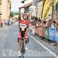 Frossasco, grande vittoria del britannico Double nella corsa ciclistica di prestigio Dalle Mura al Muro