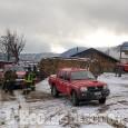 San Germano Chisone: fiamme in una baita a Pragiassaut, l'intervento dei Vigili del fuoco