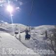 Prali: impianti aperti, si continua a sciare