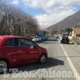 Torre Pellice: auto contro moto in corso Lombardini, biker ferito