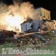 Airasca: fiamme ieri sera al casello ferroviario Toselli