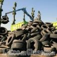 Pneumatici fuori uso, maxi bonifica nelle campagne di Volvera