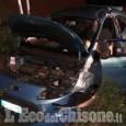 Volvera: auto fuori strada, ferito 20enne di Vinovo