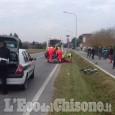 Vinovo: ciclista investito sulla Circonvallazione, in elisoccorso al Cto