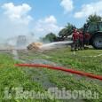 Incendio in un fienile a Villafranca