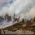 Incendio boschivo sul monte Fraiteve, vicino alle case di Sestriere