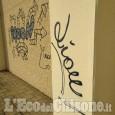 Cumiana: atto vandalico sulle colonne e i muri del Palazzetto dello Sport