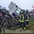 Saluzzo: furgone fuori strada sulla Provinciale 662, due feriti lievi