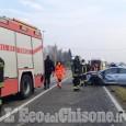 Scontro fra auto sulla Provinciale tra Candiolo e None, due i feriti