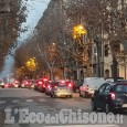 Pinerolo: si asfalta in centro, traffico in tilt