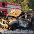 A Nichelino carambola tra auto in tangenziale sud: due in fiamme, una ribaltata, quattro i feriti
