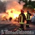 Orbassano: incendio all'ex Servizi Industriali, in fiamme alcuni contenitori di rifiuti