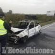 Orbassano: auto in fiamme sulla Circonvallazione esterna