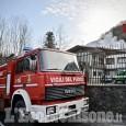 Trana: fiamme in un deposito di attrezzature agricole