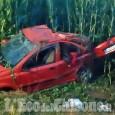 Auto fuori strada tra None e Castagnole, ferito il conducente