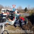 Scontro fra auto sulla Circonvallazione di Borgaretto, tre feriti