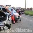 Orbassano: scontro fra auto, due feriti in strada Volvera