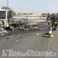 Camion in fiamme, distrutte le cene dei pazienti dell'ospedale di Pinerolo