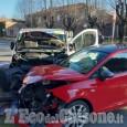 Pinerolo: scontro tra auto e furgone, quattro feriti in via Martinat