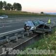 Scalenghe: perde il controllo dell'auto e finisce fuori strada, ferito 37enne di Luserna