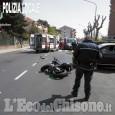 Nichelino: incidente in via Cacciatori, grave un motociclista