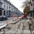 Pinerolo, via Trieste chiusa da domani per i lavori della ciclabile