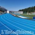 Sestriere:terminata la tracciatura dellanuova pista di atleticadel Colle