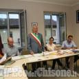 Lombriasco, per Antonio Sibona primo giorno da sindaco
