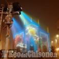 Pinerolo: prove di luce per le installazioni luminose sulla facciata del Duomo