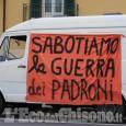 Luserna, antimilitaristi manifestano davanti alla UTC (ex Microtecnica)