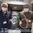 Un migliaio di maschere da sub adattate per gli ospedali, un progetto condiviso anche da un'azienda pinerolese