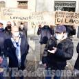 Protesta degli ambulanti al mercato di Pinerolo