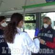 Controlli anti-covid del Nas sui mezzi di trasporto pubblici, due denunciati a Perosa Argentina