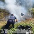Nichelino: incendio nel parco del Boschetto