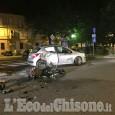 Pinerolo: auto contro moto in piazza santa Croce, biker ricoverato in gravi condizioni