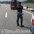 Cade dallo scooter in autostrada, grave 65enne di Nichelino