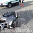 Orbassano: auto contro scooter sulla circonvallazione, ferito motociclista