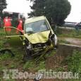 Candiolo: auto fuori strada sulla Torino-Pinerolo, ferita 56enne