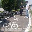Vinovo: moto contro auto in via Stupinigi, ferito centauro