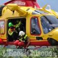 Moto contro auto tra Moretta e Torre san Giorgio, biker elitrasportato in ospedale