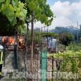 Borgaretto: fiamme nell'orto vicino alla Circonvallazione, distrutto un fabbricato