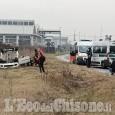 Volvera: esce di strada e cappotta, un altro incidente sulla Sp141