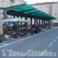 Mercato di Pinerolo, primo giorno con nuova viabilità