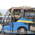 Incendio nel deposito Sadem, tre pullman distrutti dalle fiamme