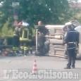 Pinerolo: auto ribaltata in stradale Fenestrelle