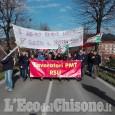 Pinerolo: cittadini e autorità sfilano a fianco dei lavoratori PMT