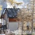 Pragelato: incendio nella notte devasta alcuni chalet a Plan