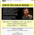 """Beinasco, striscione sul municipio: """"Verità per Giulio Regeni"""""""