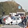 Rivalta: scontro tra auto in strada san Luigi, un ferito