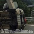 Roure: auto si ribalta nei pressi di Roreto, un ferito